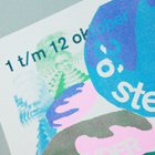 Three color riso print design for Meermanno museum in The Hague, printed by Made by Johnnie